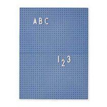 Design Letters Letterbord A4 Blauw Wanddecoratie & -planken Blauw Kunststof