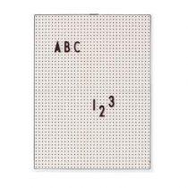 Design Letters Letterbord A4 Grijs Wanddecoratie & -planken Grijs Kunststof