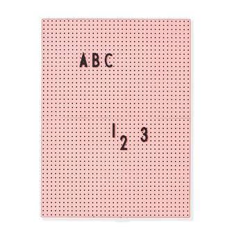Design Letters Letterbord A4 Roze Wanddecoratie & -planken Roze Kunststof