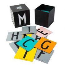 Design Letters Memory Spel Bordspellen Wit Karton