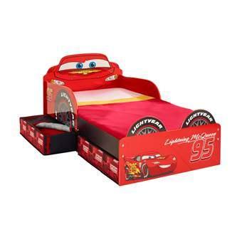 Disney Cars Lightning McQueen Kinderbed met lades Baby & kinderkamer Rood Hout