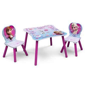 Disney Frozen Tafel met 2 Stoelen Baby & kinderkamer Multicolor MDF