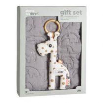 Done by Deer Quilt Geschenkset Kinderbeddengoed Grijs Polyester