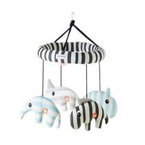Done by Deer Zoopreme 3D Musical Mobiel Baby & kinderkamer Blauw
