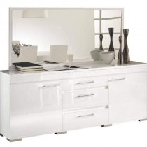 40.00 - Dressoir Kristal White 218 cm breed - Hoogglans Wit - Kasten