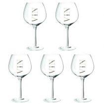 Dulaire Rode Wijnglas 0.5 L - 5 st. Glazen Transparant