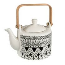 Dulaire Theepot Zwart Wit 0.6 L Thee & accessoires Wit