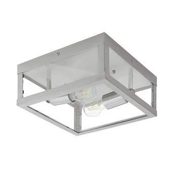 EGLO Alamonte Wand/Plafondlamp Buitenverlichting Grijs RVS