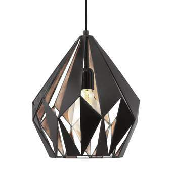 EGLO Carlton 1 Hanglamp Verlichting Zwart Staal