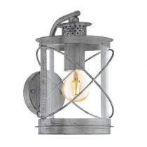 EGLO Hilburn 1 Wandlamp Buitenverlichting Zilver Staal