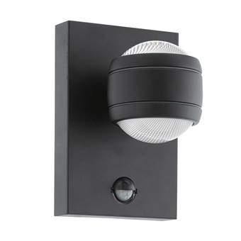 EGLO Sesimba 1 LED Wandlamp met sensor Buitenverlichting Zwart Staal