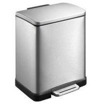 EKO Pedaalemmer E-Cube 12 L Afvalemmers Zilver RVS