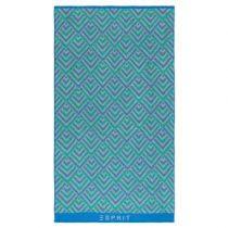 Esprit Zora Strandlaken 100 x 180 cm Badtextiel Blauw Katoen
