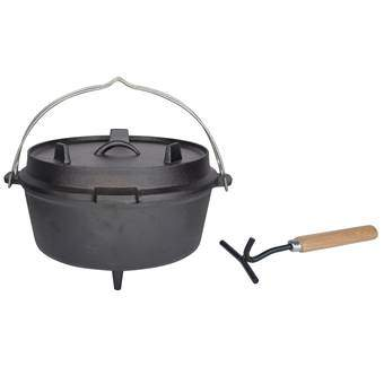 """Esschert Kampvuurpot 12"""" Barbecue accessoires Zwart Gietijzer"""