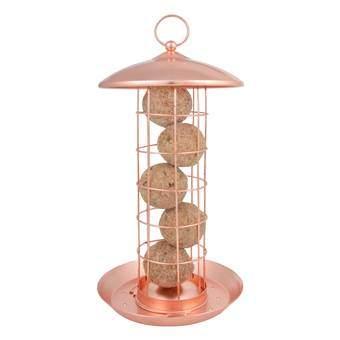 Esschert Koper Vetbollenautomaat Vogelhuisjes & dierenverblijven Rood Metaal