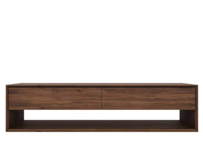 Ethnicraft Nordic TV Cupboard noten tv meubel LargeWoonkamer