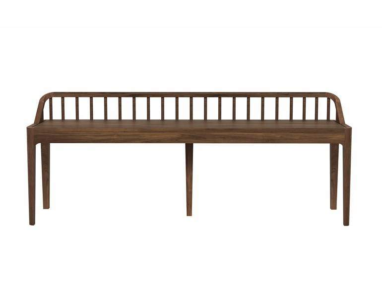 Ethnicraft Spindle Bench With Back bankWoonkamer