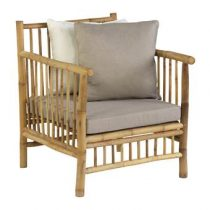 Exotan Bamboo Loungestoel  Tuinmeubelen Bruin Bamboe