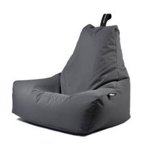 Extreme Lounging B-bag Mighty-b Outdoor Zitzak Stoelen Grijs Polyester