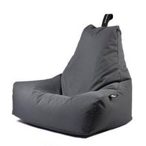 Extreme Lounging B-bag Mighty-b Outdoor Zitzak Stoelen Grijs Polyester