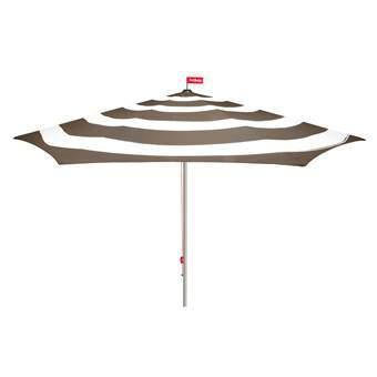 Fatboy Stripesol Parasol Ø 350 cm Parasols & schaduwdoeken Taupe Metaal
