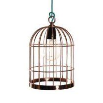 FilamentStyle Bird Cage Hanglamp Verlichting Blauw