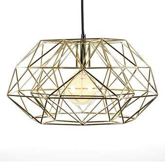 FilamentStyle Diamond #7 Hanglamp Verlichting Goud Staal