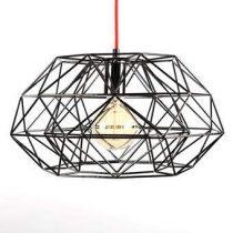 FilamentStyle Diamond #7 Hanglamp Verlichting Zwart Staal