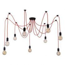 FilamentStyle Spider 9 Hanglamp Verlichting Rood Kunststof