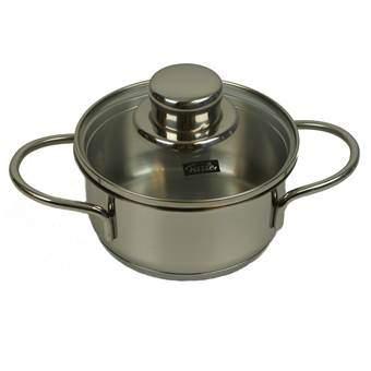 Fissler Snacky Kookpan Ø 12 cm Pannen Zilver RVS