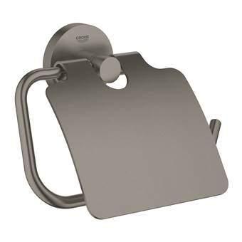 GROHE Essentials Toiletrolhouder Toiletaccessoires Zwart Metaal