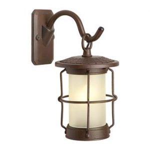 Garden Lights Callisto Wandlamp 12V Buitenverlichting Bruin Aluminium