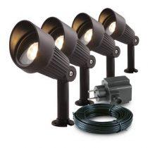 Garden Lights Focus Spot 12V Bundelset 4 st. Buitenverlichting Zwart Aluminium