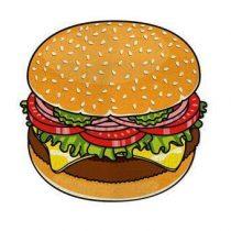 Gigantic Burger Strandlaken 150 cm Badtextiel Multicolor Katoen