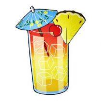 Gigantic Cocktail Strandlaken 150 cm Badtextiel Multicolor Katoen