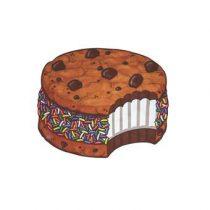 Gigantic Cookie Strandlaken 150 cm Badtextiel Multicolor Katoen