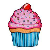 Gigantic Cupcake Strandlaken 150 cm Badtextiel Multicolor Katoen
