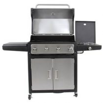 GrandHall Xenon 4 Barbecues Zilver Staal
