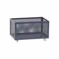 Hübsch Opbergbox op wieltjes metaal grijs 51 x 30 x 30 cm Opbergen Grijs Metaal