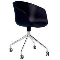 HAY About a Chair AAC24 Stoel Bureaus & bureaustoelen Zwart