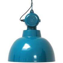 HKliving Factory Hanglamp L Ø 55 cm Verlichting Blauw Metaal