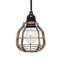 HKliving Lab Hanglamp met plafondkapje Verlichting Brons Metaal