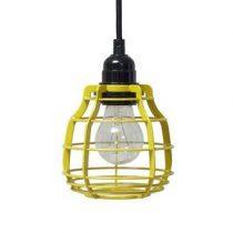 HKliving Lab Hanglamp met plafondkapje Verlichting Geel Metaal
