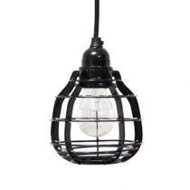HKliving Lab Hanglamp met plafondkapje Verlichting Zwart Metaal