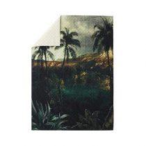 HKliving Tropical Island Sprei 140 x 200 cm Slapen & beddengoed Groen Katoen