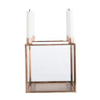 House Doctor Square Kandelaar Woonaccessoires Koper Glas