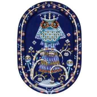 Iittala Taika Ovaal Serveerbord 41 x 28 cm Servies Blauw Porselein