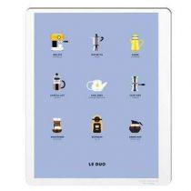 Image Republic Le Duo Café Poster 40 x 50 cm Wanddecoratie & -planken Multicolor Papier