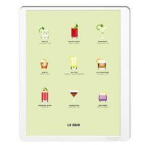 Image Republic Le Duo Cocktails Poster 40 x 50 cm Wanddecoratie & -planken Multicolor Papier