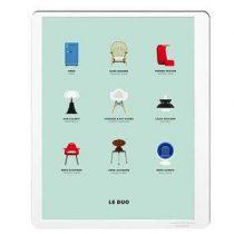 Image Republic Le Duo Design Poster 40 x 50 cm Wanddecoratie & -planken Multicolor Papier